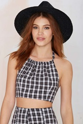 Nasty Gal After Party Vintage Elysian Crop Top