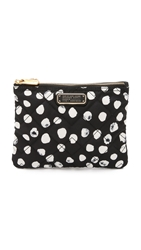 Marc By Marc Jacobs Crosby Quilted Double Zip Pouch Black Multi