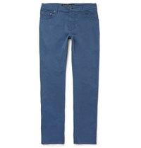 Hackett Trinity Slim Fit Stretch Cotton Twill Trousers Blue