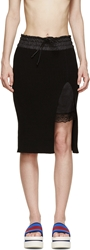Sacai Luck Black Knit And Lace Layered Skirt