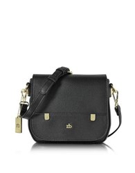 Roccobarocco Rb Grainy Eco Leather Crossbody Bag Black