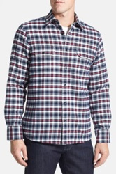 Nordstrom Regular Fit Lined Plaid Flannel Shirt Tall Blue