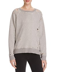 Mother The Square Distressed Sweatshirt 100 Bloomingdale's Exclusive Caught Running