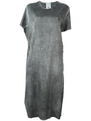 Lost And Found Rooms Draped T Shirt Dress Grey