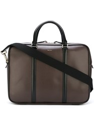 Paul Smith 'City Embossed' Briefcase Brown
