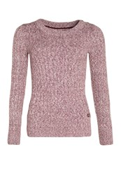 Superdry Croyde Twist Cable Crew Neck Jumper Charcoal