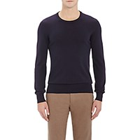 Maison Martin Margiela Men's Leather Elbow Patch Sweater Navy