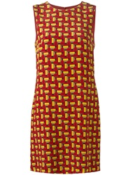 M Missoni Geometric Pattern Dress Red