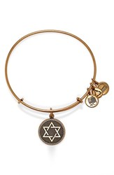 Women's Alex And Ani 'Star Of David' Expandable Wire Bangle