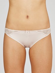 John Lewis Collection By Ava Embroidered Briefs Nude