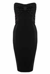 Coast Kimly Bow Cocktail Dress Black