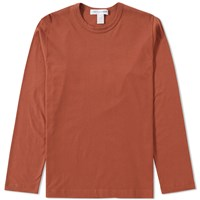 Comme Des Garcons Shirt Long Sleeve Basic Tee Orange