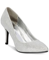 Rampage 143 Girl Owanda Pumps Women's Shoes Silver Glitter