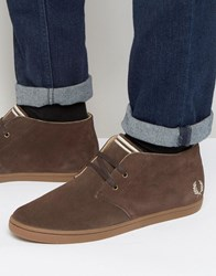 Fred Perry Byron Mid Suede Chukka Boots Brown
