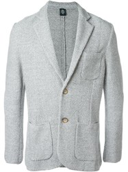 Eleventy Patch Pocket Cardigan Grey