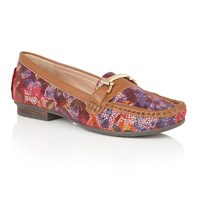 Lotus Albena Floral Print Loafers Multi Coloured
