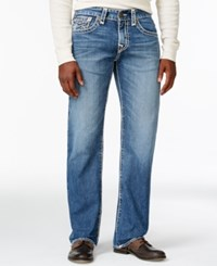 True Religion Relaxed Straight Fit Light Wash Jeans River
