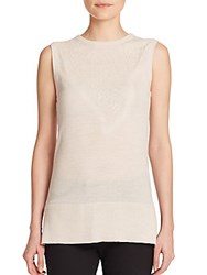 Rag And Bone Carolyn Embroidered Merino Wool Shell Pumice