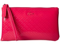 Lacoste L.12.12 Glossy Clutch Bag Cerise Clutch Handbags Red