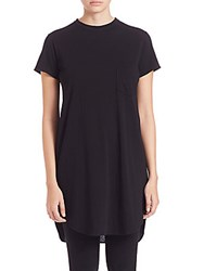 Helmut Lang Long Cotton And Cashmere Tee Blk