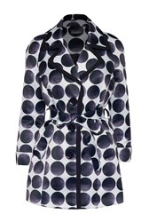 James Lakeland Big Polka Dots Coat White