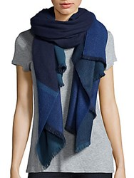 Fraas Colorblock Scarf Navy