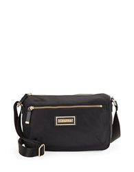 Calvin Klein Nylon Shoulder Bag Black Gold
