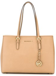 Michael Michael Kors 'Jet Set Travel' Tote Nude And Neutrals