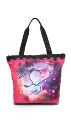 Le Sport Sac Peanuts X Lesportsac Hailey Tote Galaxy Snoopy