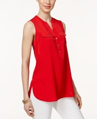 Charter Club Sleeveless Shirt Only At Macy's Red Barn
