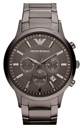 Emporio Armani Stainless Steel Bracelet Watch 43Mm Gunmetal