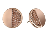 Kate Spade Light The Lanterns Circle Stud Earrings Light Peach Rose Gold