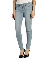 Paige Ankle Length Skinny Jeans Addy Light Wash