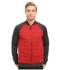 The North Face Norris Point Insulated Full Zip Cardinal Red Heather Tnf Dark Grey Heather Men's Clothing