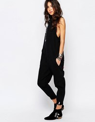 One Teaspoon Braxton Utility Jumpsuit Black