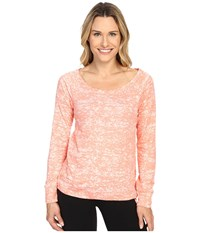 Mountain Hardwear Burned Out Long Sleeve Pullover Heather Coralescent Women's Long Sleeve Pullover Orange