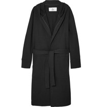 Reigning Champ Loopback Cotton Jersey Robe Black