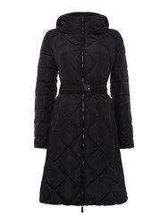 Marella Rama Long Sleeve Padded Coat With Belt Black