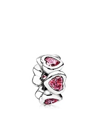 Pandora Design Pandora Spacer Sterling Silver And Cubic Zirconia Space In My Heart Moments Collection Silver Pink
