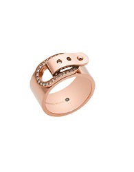 Michael Kors Pave Buckle Ring Rose Gold