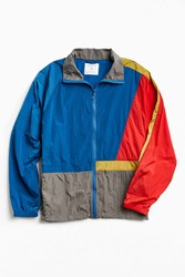 Without Walls Full Zip Colorblock Nylon Jacket Blue