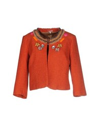 Rose' A Pois Suits And Jackets Blazers Women Rust