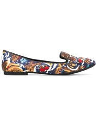 Kenzo 'Flying Tiger' Slippers Brown
