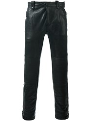 Belstaff Leather Trousers Black