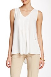 Dex Pleated Accent Tank White