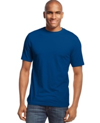 John Ashford Short Sleeve Crew Neck Solid T Shirt Bright Marine