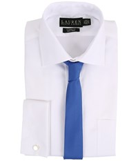 Lauren Ralph Lauren Oxford Spread Collar Classic Button Down Shirt W French Cuff White Men's Long Sleeve Button Up
