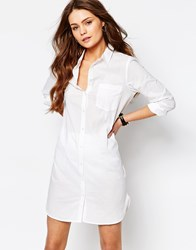 Jdy J.D.Y Button Front Shirt Dress White