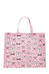 Forever 21 Bow Print Eco Shopper Tote Pink Multi