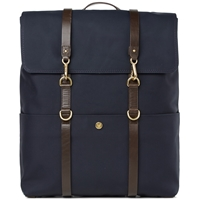 Mismo Backpack Dark Blue And Dark Brown